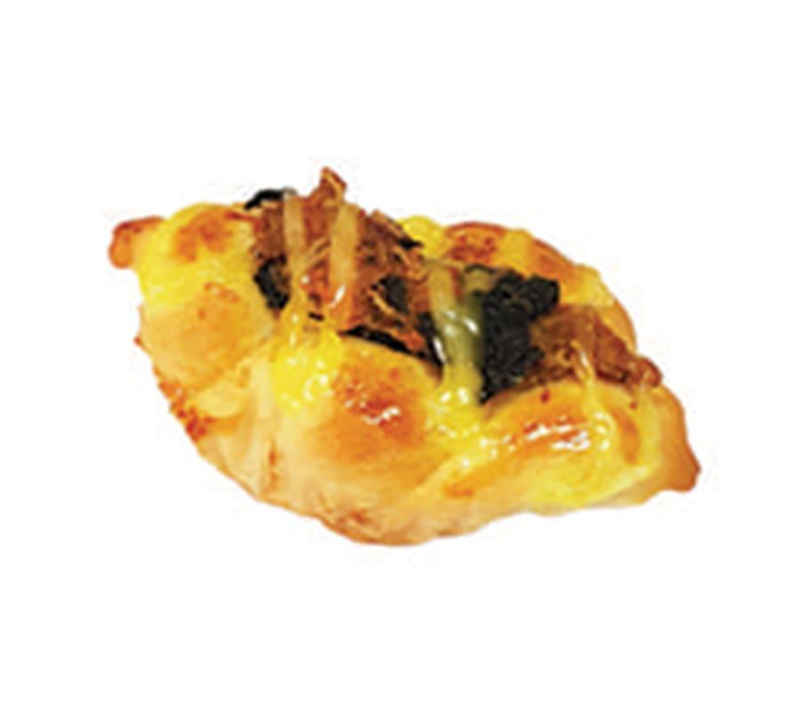 ขนมปังทูน่าผักโขมชีส